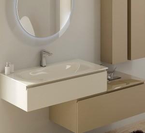 Vetro il nobile materiale per l 39 arredo bagno moderno for Materiali per mobili