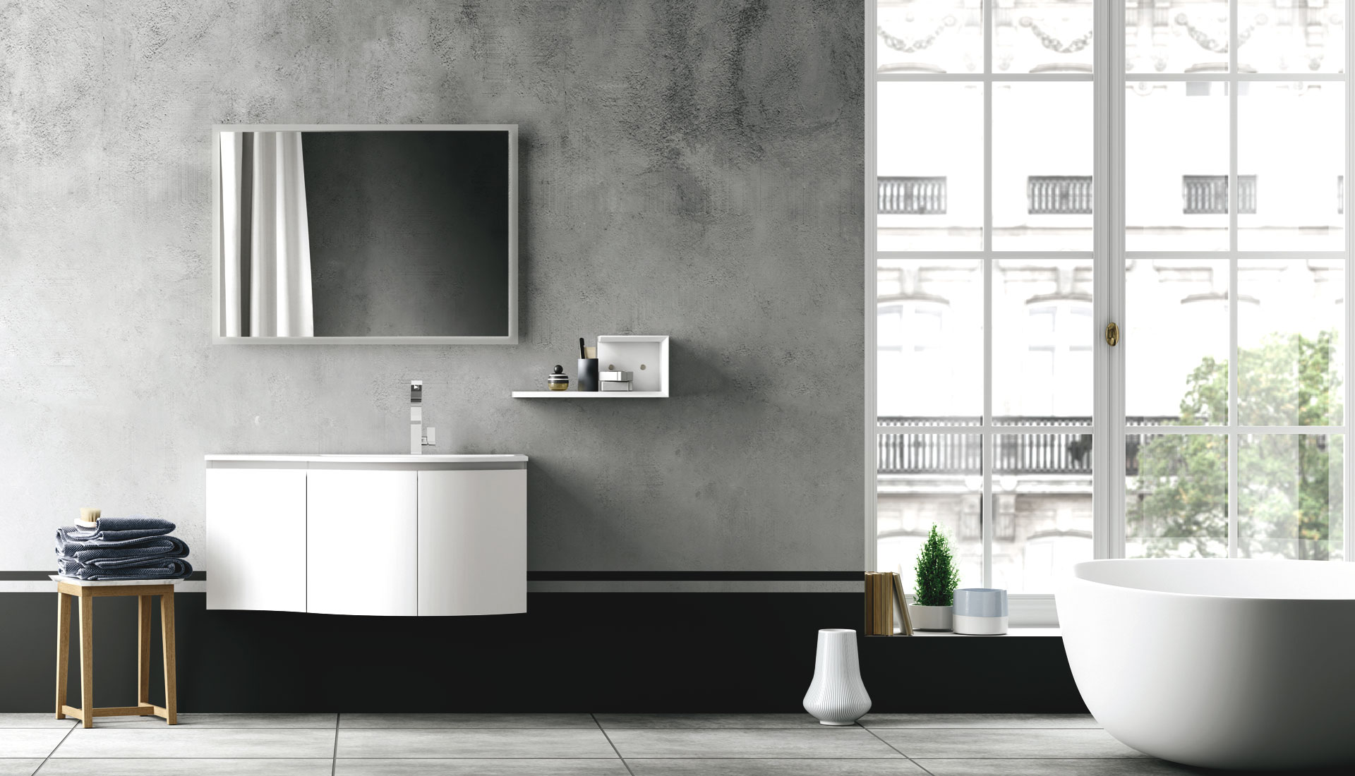 Creative Handleless Bathroom Furniture  Puntotre Arredobagno