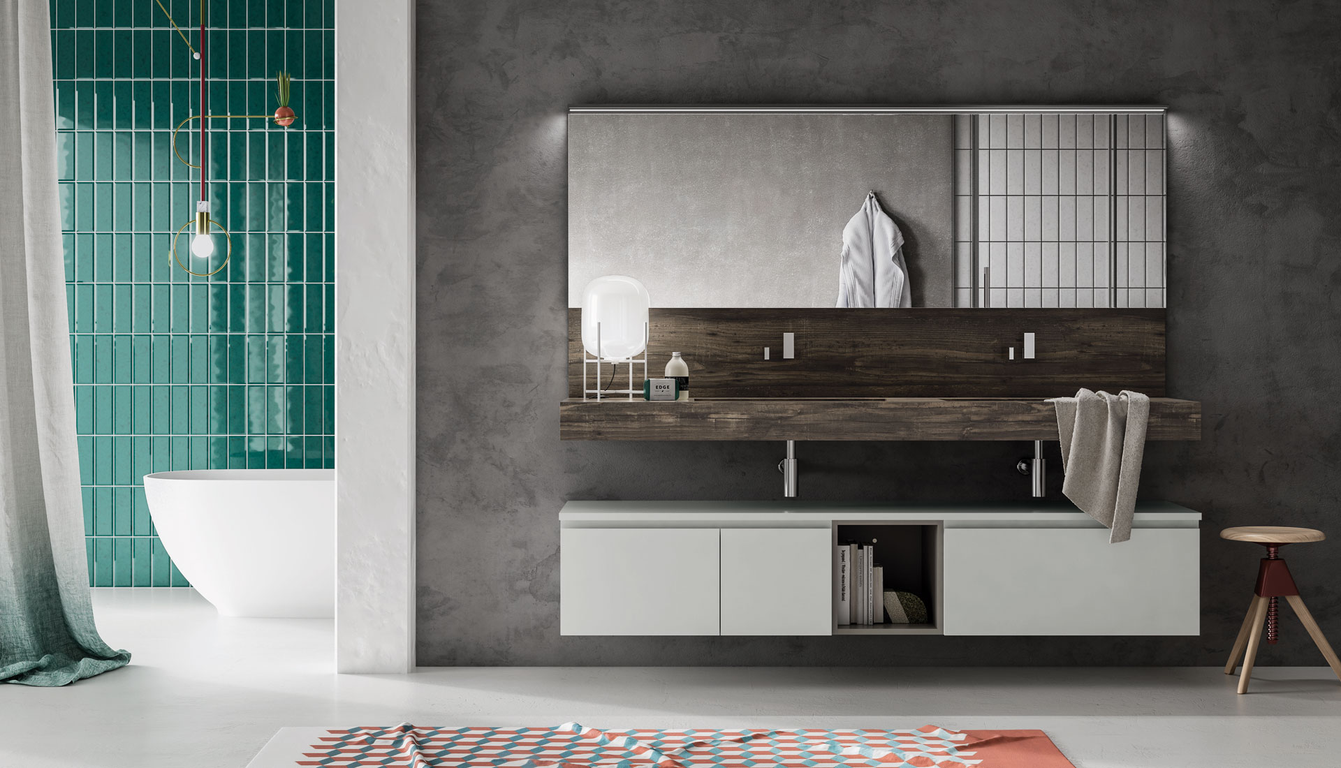 Handleless bathroom furniture - Puntotre Arredobagno