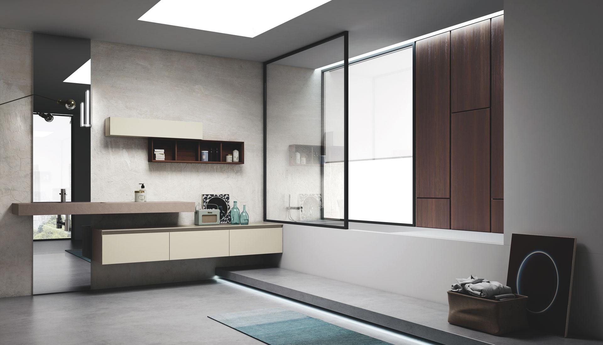 Arredo bagno senza maniglia con gola puntotre arredobagno - Arredo bagno design ...