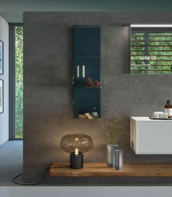 Arredo bagno legno massello nel nuovo modello le cornici di puntotre - Arredo bagno in legno ...