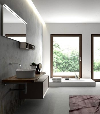 Arredo bagno legno massello nel nuovo modello Le Cornici di Puntotre