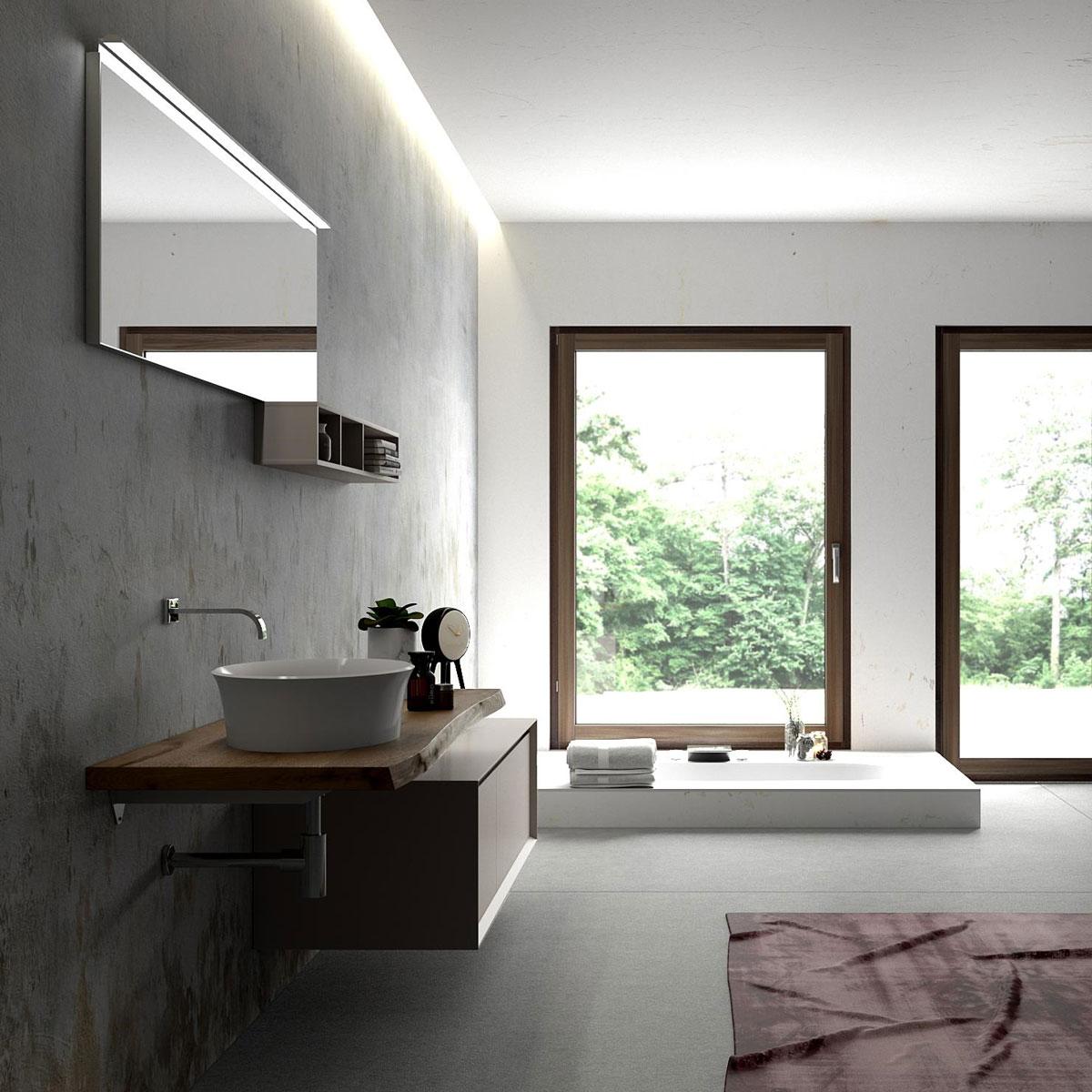 arredo-bagno-legno-massello-rovere - Puntotre Arredobagno