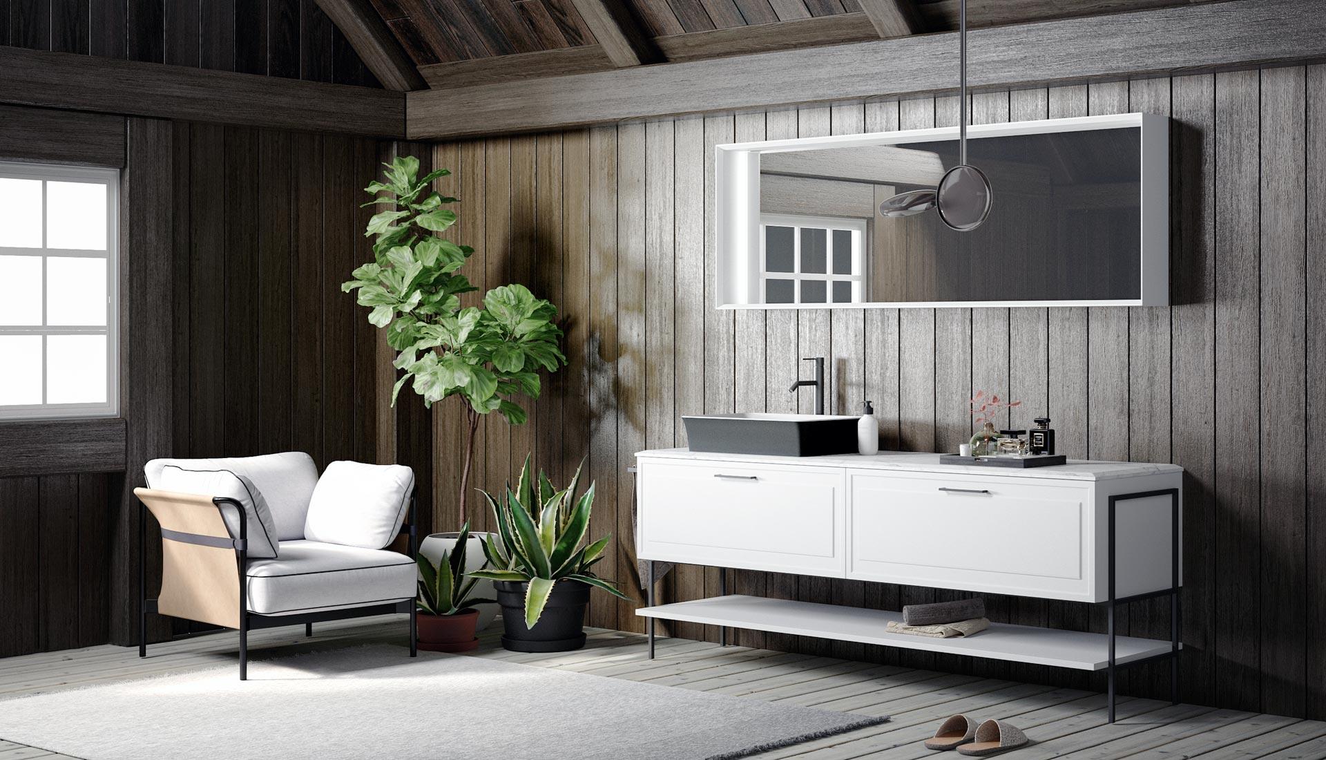 Arredo bagno mobili e arredamento bagno su misura puntotre for Archi arredo roma