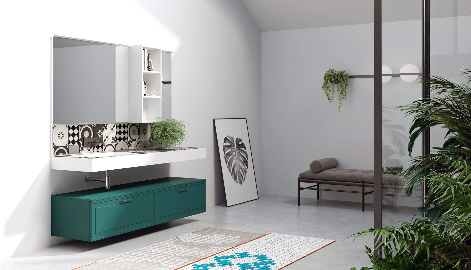 Puntotre produzione arredo bagno e mobili per il bagno su for Archi arredo roma
