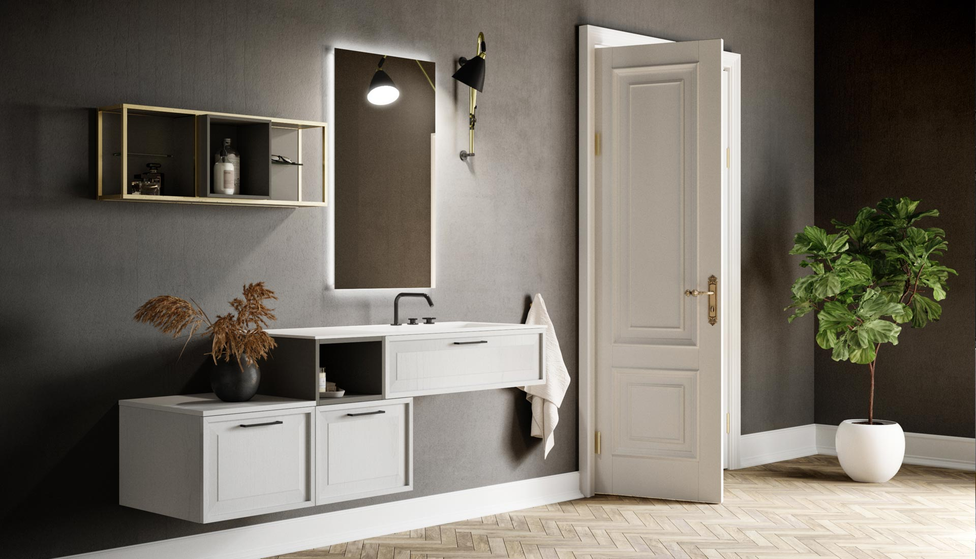 Arredo bagno mobili e arredamento bagno su misura puntotre - Mobili arredo bagno roma ...